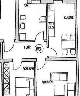 2-Zi.-Mietwohnung mit Balkon - Meißen Cölln - MW8e/03/02