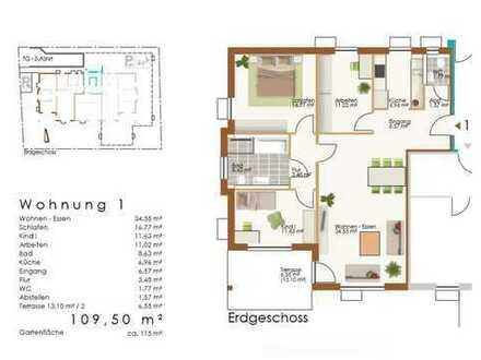 4 ZKB mit Garten und Terrasse, Whg 1