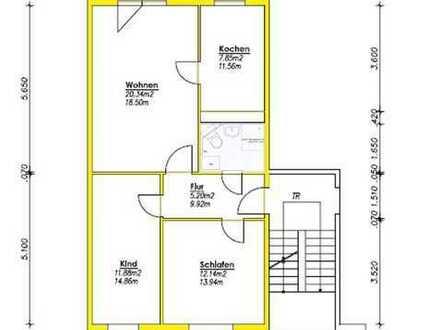 3-Raumwohnung mit großem Balkon im Erdgeschoss