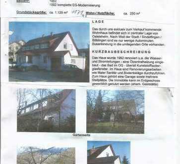 Grundstück mit 2 Familienhaus