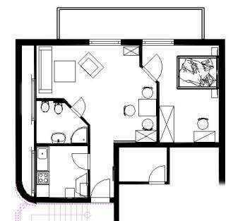 Vollständig renovierte 2-Zimmer-DG-Wohnung mit Balkon und EBK in Mömbris