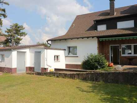1-Familienhaus mit herrlichem süd-west Garten, Hof und Garage in MA-Blumenau