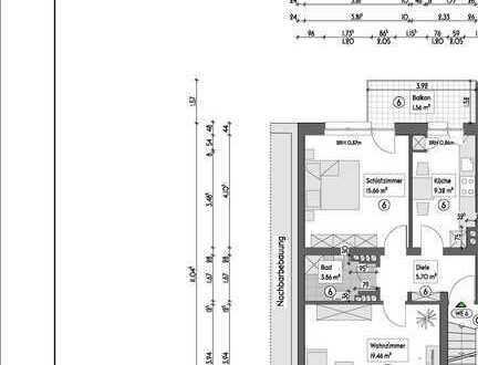 Vermietete Etagenwohnung (2.OG L) auf 55,57m², mit Balkon in Essen - Holsterhausen - Neugründung WEG