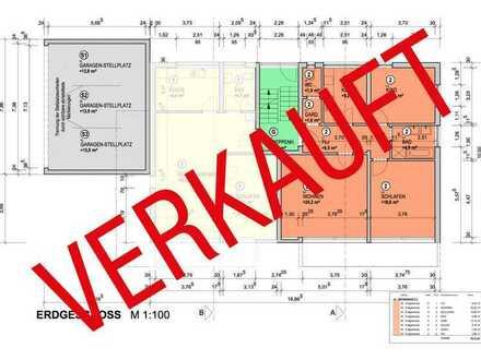 Wohnung 2: EG mit Terrasse und 135 m² Gartenanteil