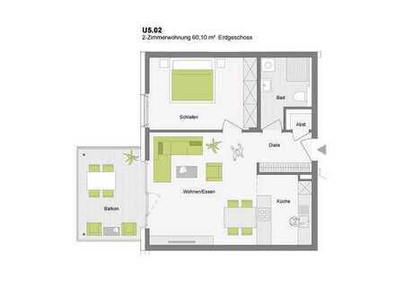 STADTWOHNUNGEN: 2-Zimmerwohnung mit Gartenanteil