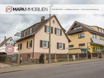 FREIWERDEND!!! Sanierungsbedürftiges 1-2 Familienhaus mit attraktivem Grundstück