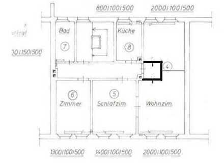 Gemütliche 4 Zimmer Wohnung, zentral in Fürth, inmitten der Metropolregion Nürnberg Erlangen