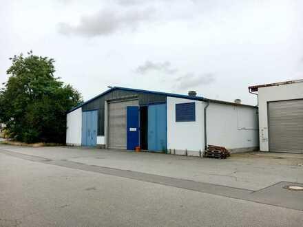 Lagerhalle/Werkstatt 800 m² und Freifläche zu vermieten