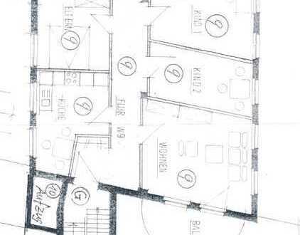 Gepflegte Loft-Wohnung mit vier Zimmern und Balkon in Herford
