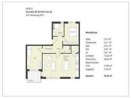 70% verkauft - Top 3-Zimmer Wohnung im 1. OG