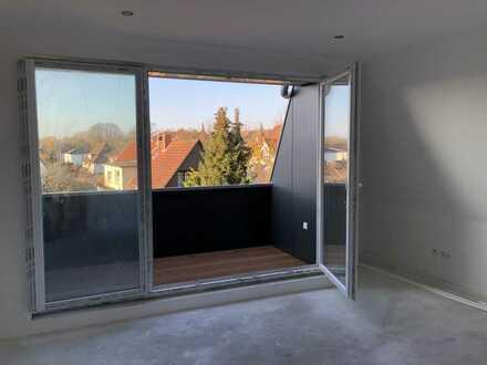 Erstbezug: stadtnahe 2-Zimmer-Dachgeschosswohnung mit EBK und Balkon in Oldenburg