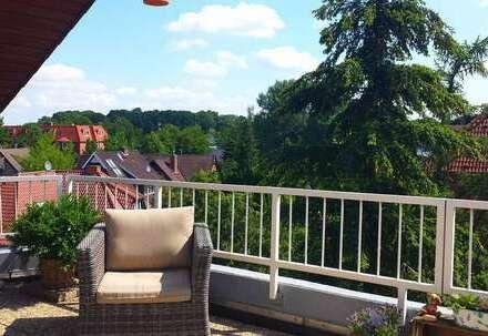Wohnen mit herrlichem Ausblick über die Dächer von Bad Zwischenahn! 4 Balkone !