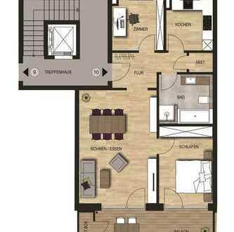 Neubauvorhaben 3 - Zimmer Wohnung mit Balkon im 2. OG