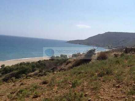 Blick über das Meer: großes Grundstück zum Bau eines Hotels oder großer Villa, westlich v. Rethymno