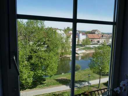 Maisonette Wohnung mitten in der Stadt, am Ufer der Donau mit herrlicher Aussicht