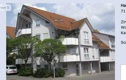 2-Zimmer-Dachgeschosswohnung mit Balkon in Nebringen