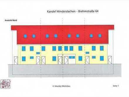 2 Zi.-Neubau-WG. im 2-Fam-Reihenhaus - Schlüsselfertig, hochwertig mit Terrasse u. Garten