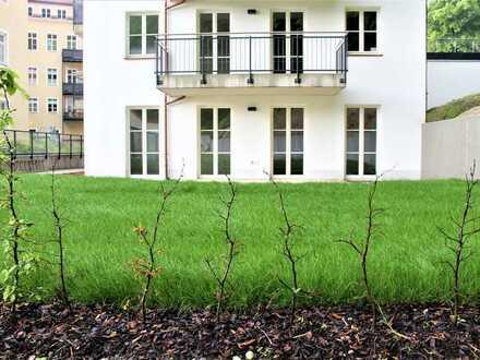 4 Zi. Wohnung mit Garten in einmaliger Lage, unverbaubarer Südwestausrichtung mit Blick in den Park.