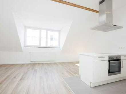 Neu gebaute, exklusive und möblierte 2-Zimmer-Dachgeschosswohnung mit Balkon an der Deutzer Freiheit
