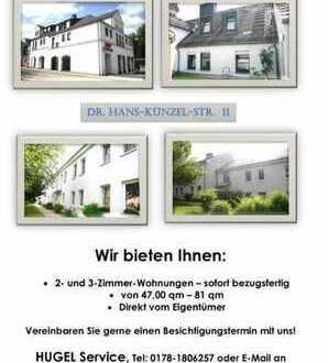2-4 Zimmer Wohnungen in Naila direkt vom Eigentümer zu vermieten.