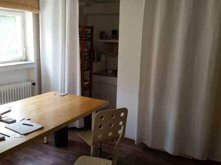 1-Zimmer Tageslicht -Büro mit WC und Kochnische