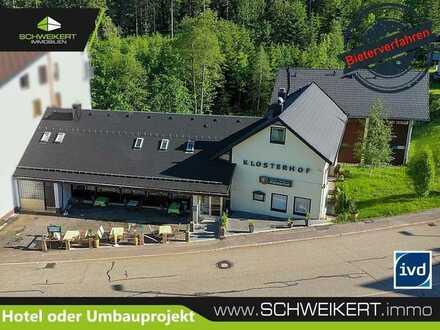 Im Bieterverfahren: Hotel, Restaurant, Hallenbad, Sauna/ Wohnungsumbaumöglichkeiten in Kniebis/FDS