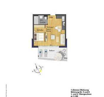 Der Tipp für Kapitalanleger, helle 1 Zimmer Wohnung im 1. OG ( Haus 1 Whg. 5 )