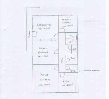 Schöne lichtdurchflutete 3-Zimmer-Wohnung mit Balkon im Zentrum von Burgau