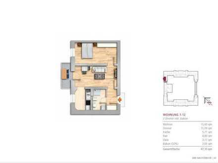 Schöne zwei Zimmer Wohnung in einer ruhigen Gegend