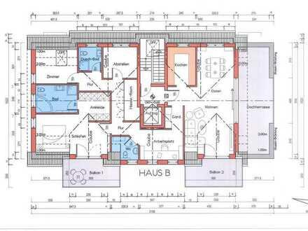 Neubau-Eigentumswohnung, Penthouse mit Aufzug in Obertshausen (W10)