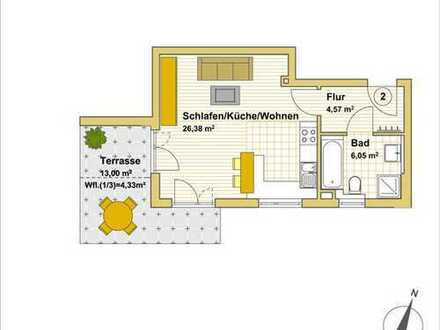 Provisionsfrei: Neubau, ruhig gelegene 1-Zimmer-Erdgeschoss-Wohnung in München-Trudering (S4 & U2)