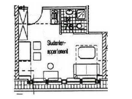 Vermietetes 1-Zimmer-Appartement im DG einer Studentenwohnanlage als Kapitalanlage zu verkaufen