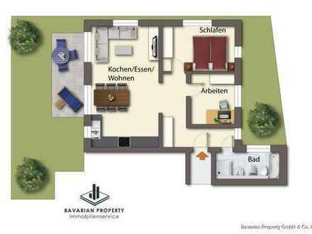 3-Zimmer-Erdgeschosswohnung am Perlbach