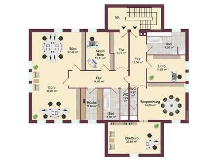 Büroetage mit 153 m² im Zentrum von Fischach zu vermieten!