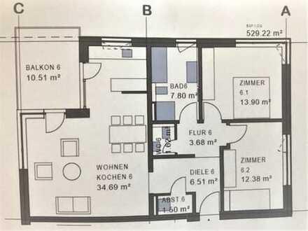 3-Zimmerwohnung, Erstbezug in Offenburg Seidenfaden