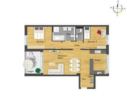 Fantastische 3-Zimmer-Wohnung mit Ambiente