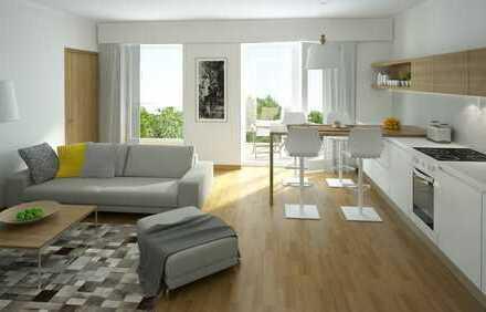 Attraktive Zwei-Zimmer-Wohnung mit schönem Balkon und Blick ins Grüne