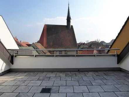 Traumhafte Luxuswohnung mit Balkon und Dachterrasse in der Amberger Altstadt