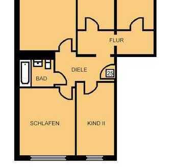 Hier wartet Ihre 4 Raumwohnung in Reichenbrand auf Sie!