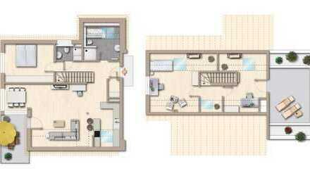 Moderne, helle Maisonette-Wohnung in Erdmannhausen