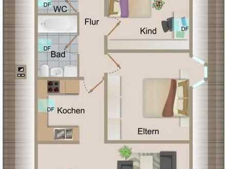 Neu renovierte 3 Zimmer-Dachgeschosswohnung mit Carport und Garte in zentraler Lage von Knittelsheim