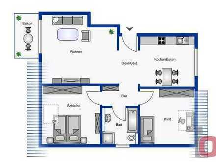 Wohnen mit städtischem Komfort – Erstklassige 3-ZKB Neubau-Dachgeschosswohnung mit Balkon