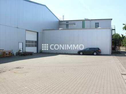 Moderne Produktions- und Lagerhalle mit LKW-Sektionaltor und Büroflächen