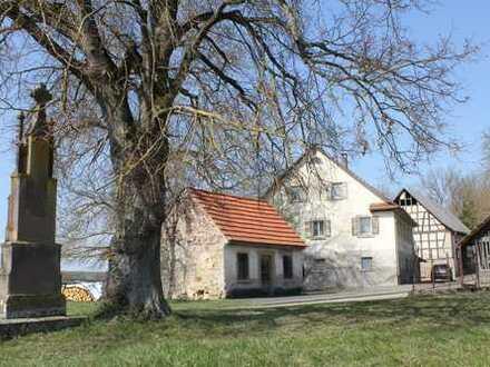 Alleinlage im Eyachtal: Früheres Mühlenanwesen mit 73.657 m² Gesamtfläche