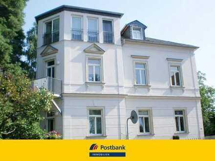 Schöne 2-Raum Wohnung in einer Villa, zentrale Lage in Radebeul mit Gartenterrasse