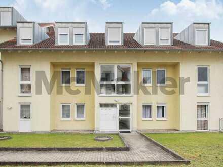 Bewohnte 3-Zimmer-Dachgeschosswohnung mit Balkon im familienfreundlichen Sinsheim