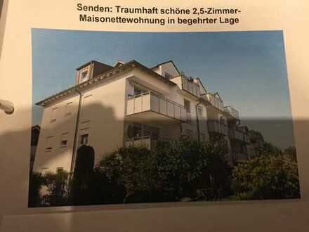 Gepflegte 2,5-Zimmer-Maisonette-Wohnung mit Balkon und Einbauküche in Neu-Ulm (Kreis)