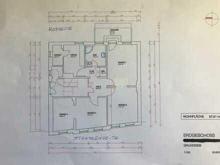Renovierte, gepflegte 4 (2x2) Zimmerwohnung, EG, Altbau, ruhige Lage