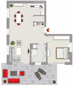 Penthouse-Wohnung mit 2, 5 Zimmer und 74,46m² Wohnfläche in Amberg