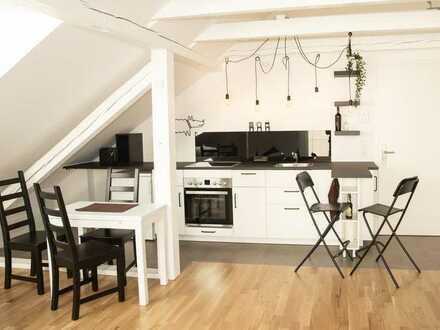 Helles freundliches 1-Zi DG-Apartment mit EBK in Rgb nähe Alex